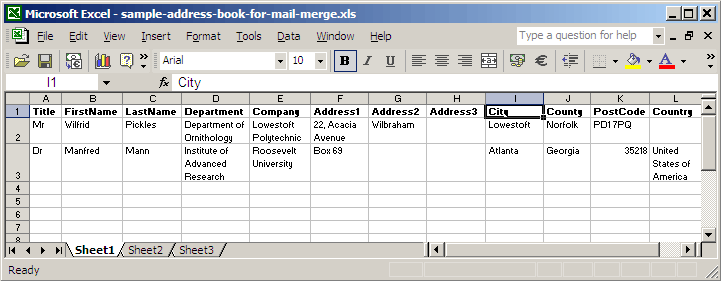 How to Produce a Mail Merge using Office XP on Department PCs ...